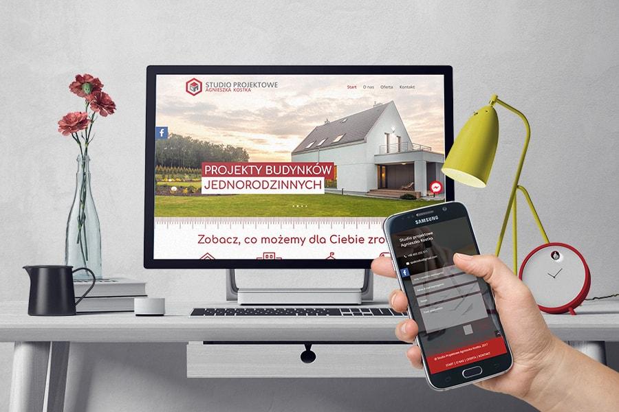 Studio projektowe Agnieszka Kostka strona internetowa